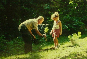 plant a tree 3 old man young girl