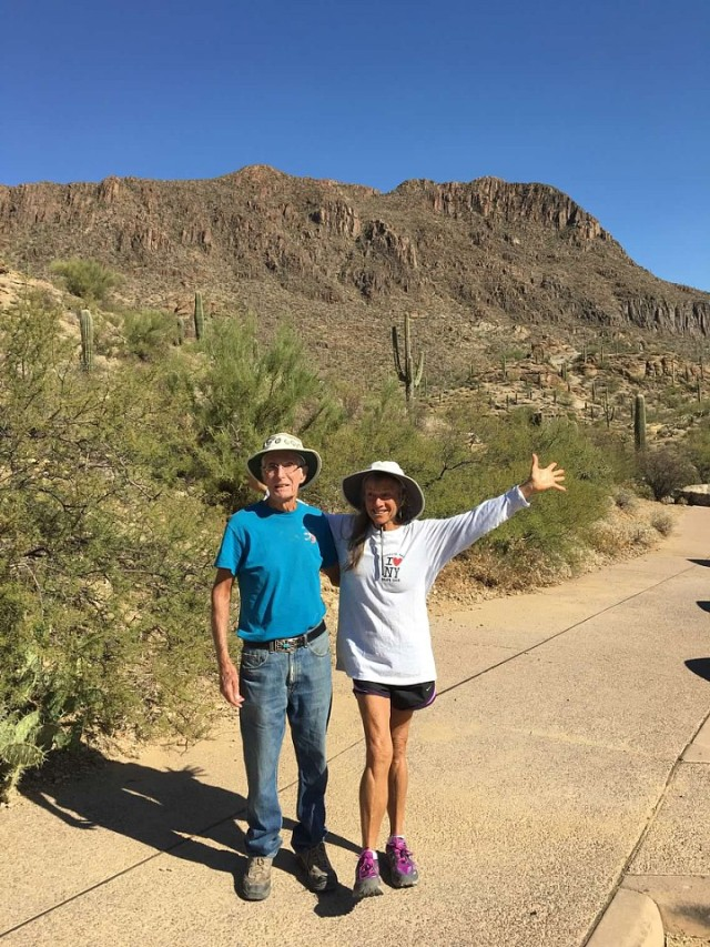 hiking w: Herb